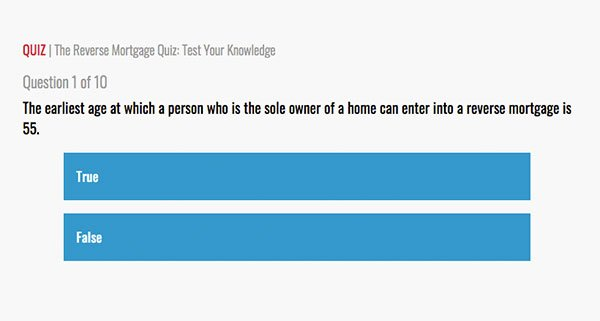 Reverse Mortgage Quiz: Test Your Knowledge